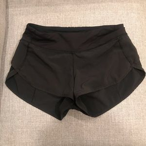 "Lululemon Black Speedup Short 2.5"" Size 2"